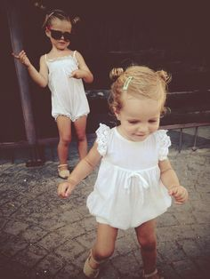 //summer whites, nothing sweeter. #estella #kids #fashion #KidsFashionPhotography