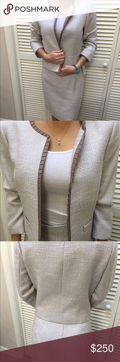 Antonio Melani Suit **NWT** Beautiful Ivory/Pumice Jacket ($200) Size 6 and skirt ($120) size 4 bought from Dillards. Style: 1190M202. Willing to accept any reasonable offers💋 ANTONIO MELANI Jackets & Coats