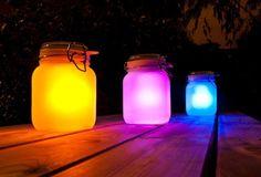 LED Solar Glass Jar Multi Colour Lantern Christmas Light Decorations Gifts in Garden & Patio, Garden Lighting, Other Garden Lighting | eBay