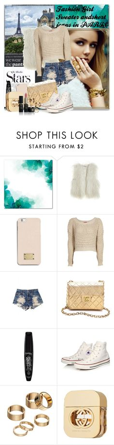 """""""Paris.."""" by medinaa ❤ liked on Polyvore featuring Karl Lagerfeld, Lonely Planet, Calypso St. Barth, MICHAEL Michael Kors, Boohoo, Urban Eclectics, WGACA, Rimmel, Converse and Apt. 9"""
