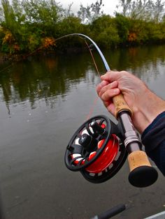 Fishing rod and wheel.