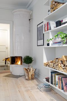 swidish interior design idea for my own! Swedish Interior Design, Swedish Interiors, Interior Decorating, Kb Homes, Style At Home, Stockholm, Shabby Home, Cozy Apartment, Blog Deco