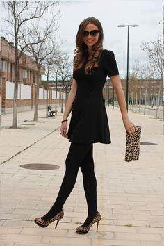 black tights cheetah accessories. Perf