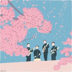 Awesome painting by Kiuchi Tatsuro that you can get as a print at Thumbtack Press!  This really reminds me of some of the Japanese high school dramas I watched a few years ago; the cherry blossom is a sign of renewal and youth.