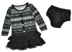 Buster Brown Infant Girls Black & Gray 2Pc Dress « Clothing Impulse