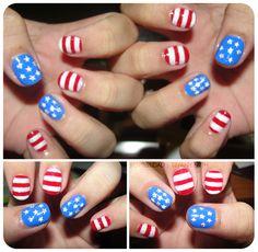 Star spangled nails