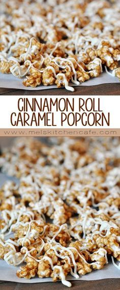 This Cinnamon Roll Caramel Popcorn is the most addictive, most delicious sweet popcorn ever.