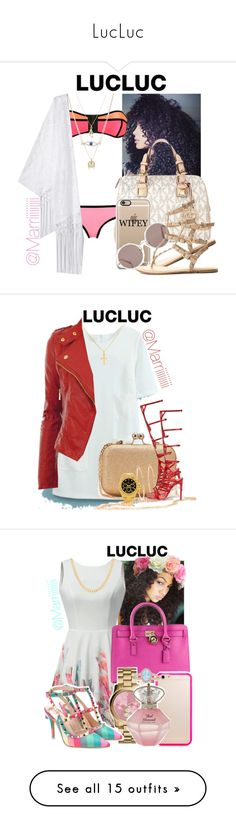 """""""LucLuc"""" by marriiiiiiiii ❤ liked on Polyvore featuring MICHAEL Michael Kors, Sunday Somewhere, Rachel Rachel Roy, Charlotte Russe, Sterling Essentials, Brooks Brothers, René Caovilla, Rolex, Michael Kors and Tiffany & Co."""