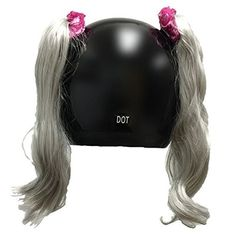 Pony Tails for Helmets All Colors Made in USA (Pink)