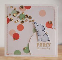 card critters elephant balloon balloons Avery Elle Ellie elephant   handmade by margaretha: Party Animal
