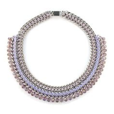Crystal Statement Pastel Violet Necklace #juniiqjewelry #spring #collection #sweet #pastels #pastelcolors #pastel #statement #necklace #fashion #fashionista #trend #juniiq #jewelry #violet #purple