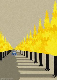 cover illustration for SQUET magazine, November 2014, on Behance