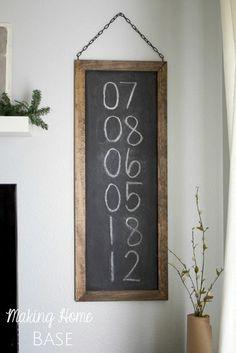 diy chalkboard tute