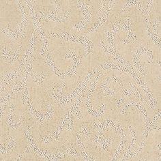 Carpet Sample - Amusing - In Color Seashell 8 in. x 8 in.