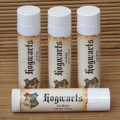 Hogwarts Butterbeer Harry Potter Lip Balm - Handmade Lip Balm - Hogwarts Lip Balm - Harry Potter Lip Balm by CherryPitCrafts on Etsy