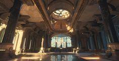 82f9f5b423544caa4d31f6a3c669e72c jpg 1902×984 Fantasy concept art Fantasy castle Environment concept art
