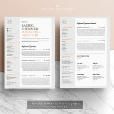 Resume Template For Pages Resume Template 5 Pages Cv Template Covertheresumeboutique