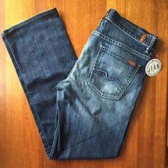 7FAM Seven 7 For all Mankind Men's Sz 33 Slouchy in Fiji Button fly Stretch EUC…
