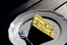 { Little Accidents in the Kitchen }: Matcha Red Bean Cake