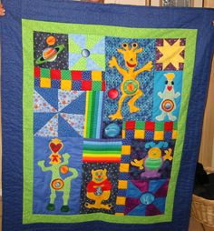 This is the baby blanket mom made for Eliot. We still love it <3
