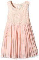 Yumi Girl's Pearl Trim Lace Dress