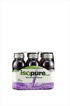 http://carbessentials.myshopify.com/products/isopure-8oz Isopure Plus Carbs are perfect for a boost just before or after a workout. High bioavailability protein plus carbs provide a thirst quenching refuel. They can be purchased individually or by the six pack. Available in Alpine Punch and Grape Frost.