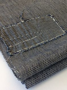 Antique Japanese Indigo handwoven textile - Boro Patches - Large - Mujo.