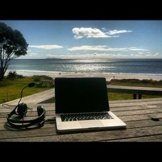 I sit here in my barefoot office and watch the runners on the beach  http://www.BarefootJournal.com