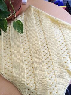 Free knitting pattern forTreasured Heirloom Baby Blanket pattern by Lion Brand Yarn More