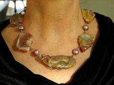 Free Wire Jewelry Designs | Jewelry design: Five-stone wrap necklace - National Jewelry | Examiner ...