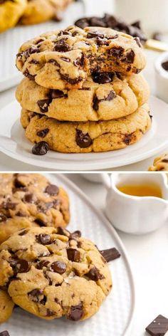 Sweets Recipes, Cookie Recipes, Snack Recipes, Snacks, Health Recipes, Easy Recipes, Make Chocolate Chip Cookies, Chocolate Chip Recipes, Homemade Chocolate