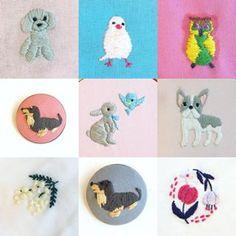 西宮、甲子園口の教室の皆さんの作品! 「 #annasのどうぶつ刺繍 」の本が出たばかりだから、かもしれませんが、動物率高いです。 動物、どうかなと思っていましたが、誰が刺繍しても全部かわいい事がわかりました! 初心者の方が、7割でしたが上手いですね。 ・ ・ ・ #刺繍 #手刺繍 #刺しゅう #ハンドメイド #ししゅう #手作り #embroidery #자수 #broderie #手芸 #刺繡 #刺繍部 #bordado #刺绣 #embroideryart #embroideryfloss #embroiderydesign #handembroidery #자수 #เย็บปักถักร้อย #nakış #刺繍教室 #刺繍部 #ブローチ #刺繍ブローチ #ブローチ部 #ブローチ好き
