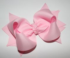 2 Layer Pink Boutique Hair Bow