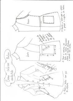 Patrón de abrigo semilargo entallado a la cintura. Tallas desde la XS hasta la XXXL