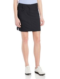 adidas Golf Women's Climacool 3-Stripes Skort, White, 4