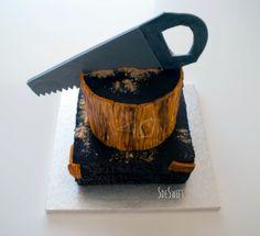 """Pastel de """"madera""""! ;) (mañana en el blog...más foto y receta) www.sdesweet.blogspot.com.es"""