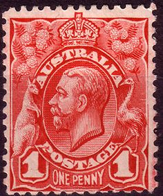 SG 17 Scott 21 Australia 1913 SG 17 King George V Head Fine Mint Other Commonwealth Stamps Here