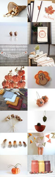 Thanksgiving feast  by Anna on Etsy--Pinned with TreasuryPin.com