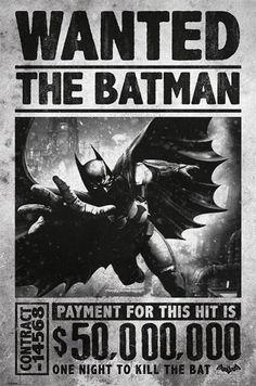 Batman - Arkham Origins - Wanted - Official Poster. Official Merchandise. Size: 61cm x 91.5cm. FREE SHIPPING