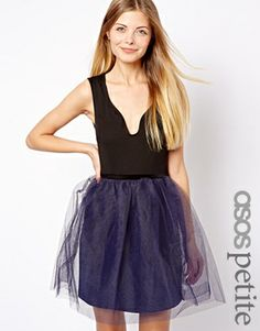 Image 1 of ASOS PETITE Exclusive Tutu Dress with Sweetheart Neckline