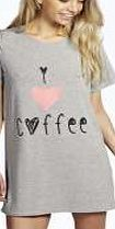 boohoo Coffee Oversize Tshirt Night Dress - grey marl Youll be saying no to nights out when you see our snuggle-worthy sleepwear and luxe loungewear. Cosy up in a co-ordinating pyjama set, drift off in a night dress or go for slumber party success in a s http://www.comparestoreprices.co.uk/dresses/boohoo-coffee-oversize-tshirt-night-dress--grey-marl.asp