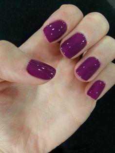 #nails #fashion #gels #purple #fall #winter #fun