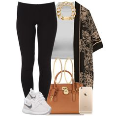 Love that kimono :) by livelifefreelyy on Polyvore featuring Anna Sui, Agent Ninetynine, NIKE, Michael Kors and Roberta Chiarella