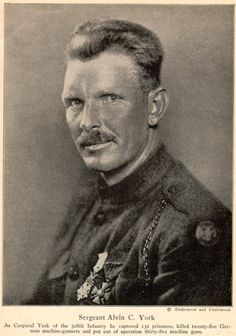 Sergeant Alvin C. York was the most decorated soldier of World War I and who also received the medal of honor.