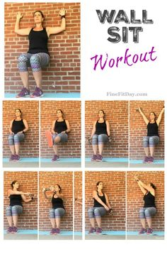 Try this wall sit workout as a challenge at the end of your next run or strength training session!