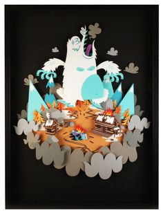 Yeti Attack! by Tougui 1, via Behance
