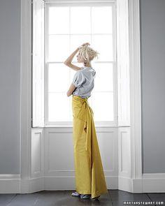 Esta glammed falda de tafetán sólo requiere una plancha y Stitch brujería. | 31 Easy DIY Projects You Won't Believe Are No-Sew