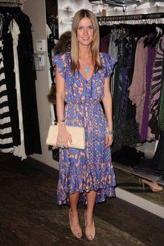T Bags Serafina Asymmetrical Dress in Violet Print