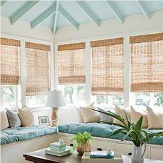 Sunroom Porch - built-in storage window seat