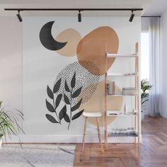 Under the Moon Wall Mural by cafelab Mural Art, Wall Murals, Art Art, Decoration Hall, Room Wall Painting, Room Decor Bedroom, Diy Wall, Wall Design, Room Inspiration